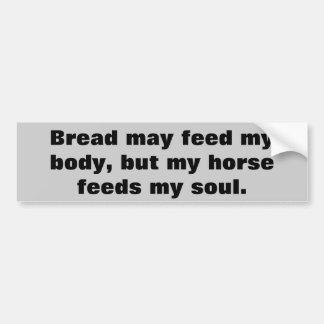 Pan para los caballos del cuerpo para el remolque pegatina para auto