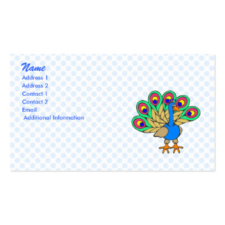 Pan Peacock Double-Sided Standard Business Cards (Pack Of 100)