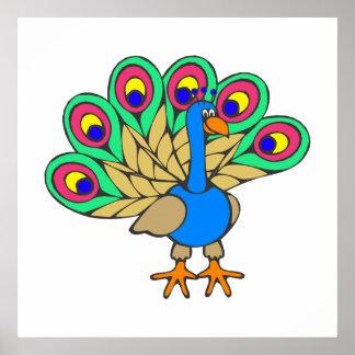 Pan Peacock Poster