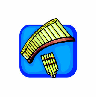 Pan Pipes With Blue background pan flute Photo Sculptures