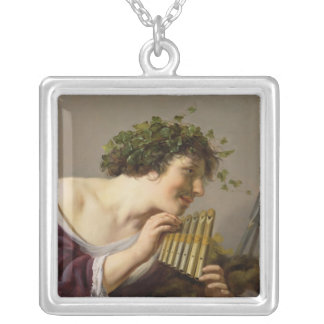 Pan Playing his Pipes Silver Plated Necklace