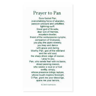 Pan Prayer Card Double-Sided Standard Business Cards (Pack Of 100)