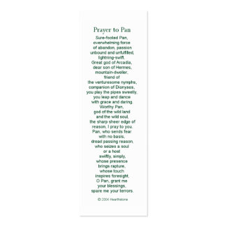 Pan Prayer Card Double-Sided Mini Business Cards (Pack Of 20)