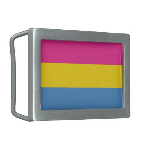 Pan Pride Rectangular Belt Buckle