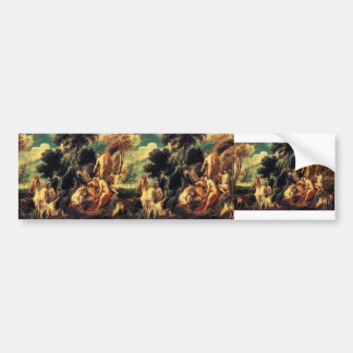 Pan punished by the Nymphs by Jacob Jordaens Bumper Sticker