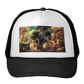 Pan punished by the Nymphs by Jacob Jordaens Hats