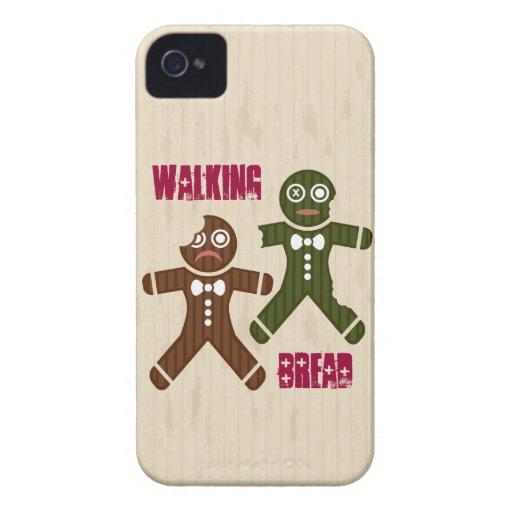 Pan que camina iPhone 4 Case-Mate cárcasa