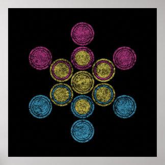 pan Sacred circles Poster