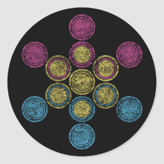 pan sacred geometry classic round sticker