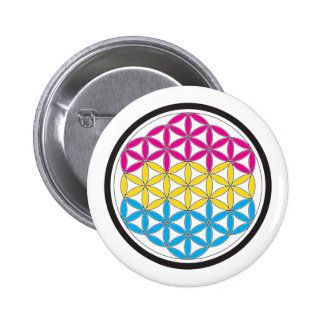 pan sacred geometry pinback button