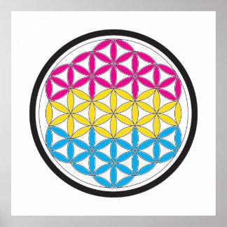 pan sacred geometry poster
