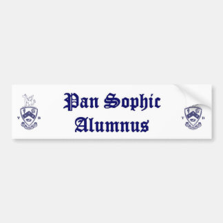 Pan Sophic Alumnus Bumper Sticker