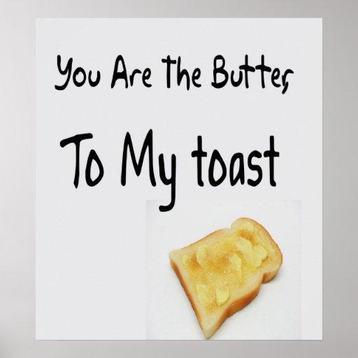 Pan tostado, palabras del amor póster