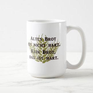 Pan viejo no es acervamente taza de café
