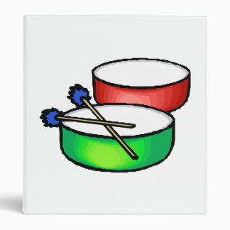 pan white head drums with mallets music percussion 3 ring binder