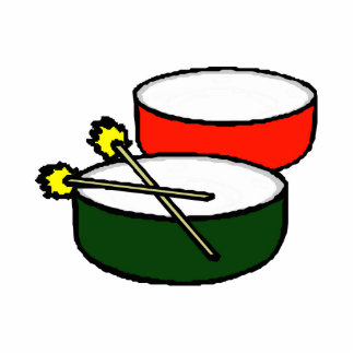 pan white head red green drums with mallets png acrylic cut outs