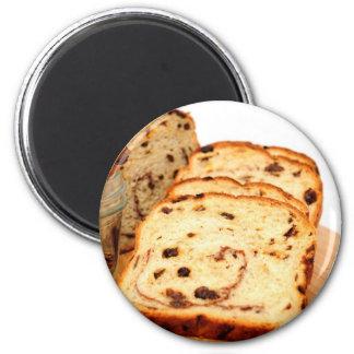 Pan y canela de pasa imán redondo 5 cm
