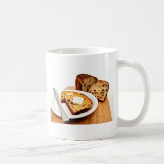 Pan y canela de pasa taza