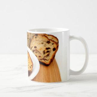 Pan y canela de pasa tazas de café