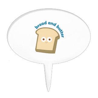 pan y mantequilla del pan decoraciones de tartas