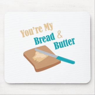 Pan y mantequilla alfombrilla de ratón