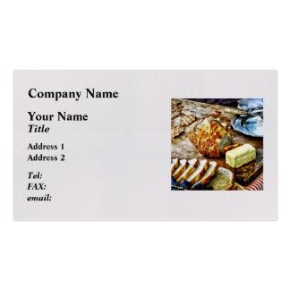 Pan y mantequilla tarjetas de visita