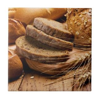 Pan y trigo azulejo cuadrado pequeño