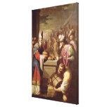 Pan y vino de ofrecimiento de Melchizedek Impresión En Lona Estirada
