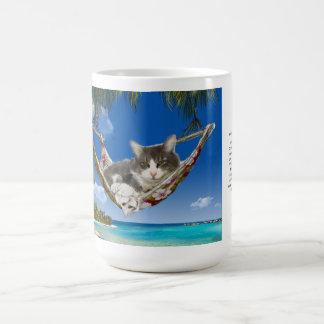 pana de la taza 15oz en el gato del Caribe en