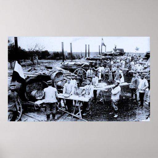 Panadería alemana de la foto de la Primera Guerra  Posters