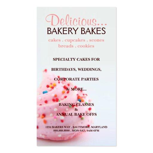 Panadería |bluepink de la tarjeta de visita el |