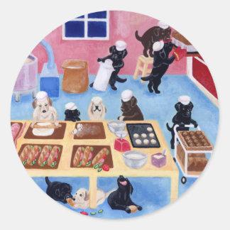 Panadería de Labradors Pegatina Redonda