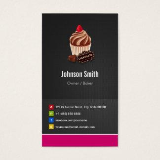 Panadería de los pasteles de la magdalena del tarjetas de visita