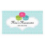 Panadería de Macarons Plantilla De Tarjeta De Visita