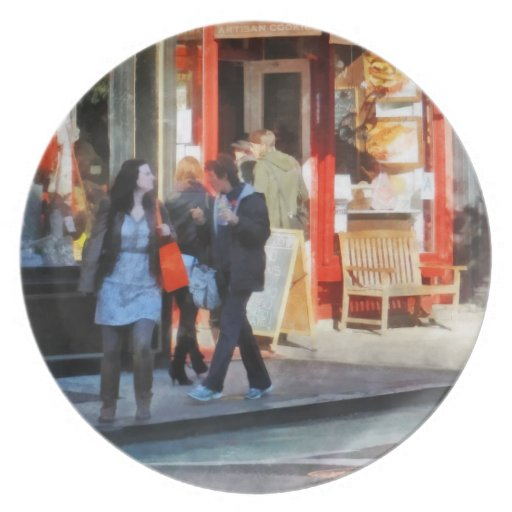 Panadería del Greenwich Village Plato Para Fiesta