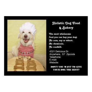 Panadería del perrito tarjetas de visita grandes