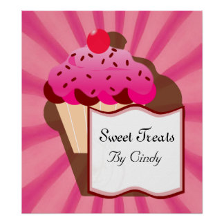 Panadería dulce de la magdalena póster