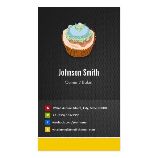 Panadería dulce de las magdalenas - innovador tarjetas de visita