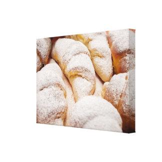 Panadería dulce impresiones en lona estiradas