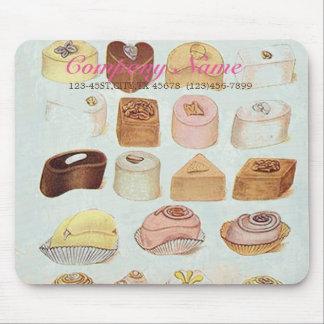 panadería dulce linda de las galletas del tapetes de raton