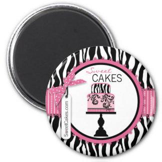 Panadería elegante de la torta del boutique imán redondo 5 cm