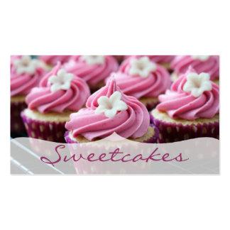 Panadería floral rosada de la magdalena tarjetas de visita