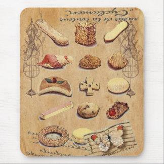 panadería francesa de las galletas de los pasteles tapetes de ratón
