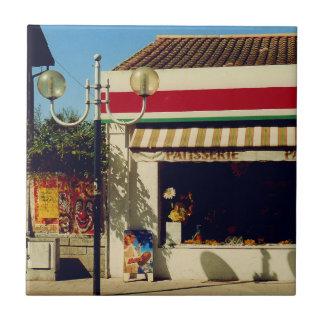 Panadería francesa del pueblo azulejo cuadrado pequeño