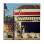 Panadería francesa del pueblo azulejos