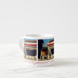 Panadería francesa del pueblo tazas espresso