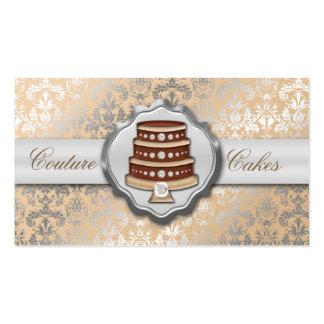 Panadería glamorosa de la torta del damasco de las plantilla de tarjeta de negocio
