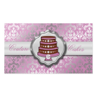 Panadería glamorosa de la torta del damasco de las tarjetas de negocios