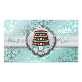Panadería glamorosa de la torta del damasco de las plantillas de tarjetas personales