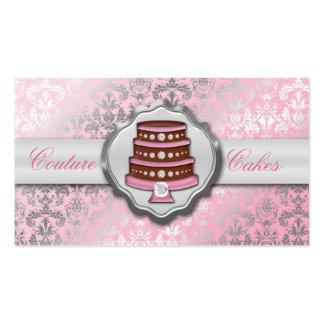 Panadería glamorosa de la torta del damasco de las plantilla de tarjeta personal
